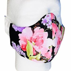 FLORAL 100% Cotton 3 Layers Homemade Face Mask